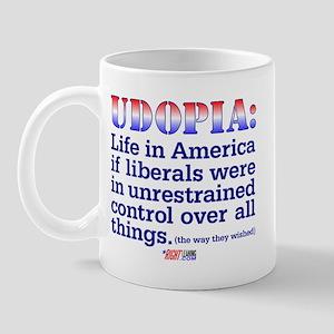 """Liberal """"Udopia"""" Mug"""