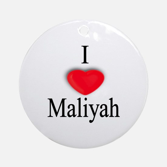 Maliyah Ornament (Round)