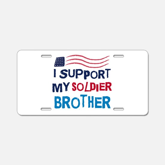 Soldier Brother Support Aluminum License Plate