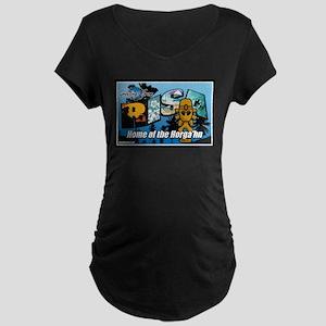 Greetings from Risa Maternity Dark T-Shirt