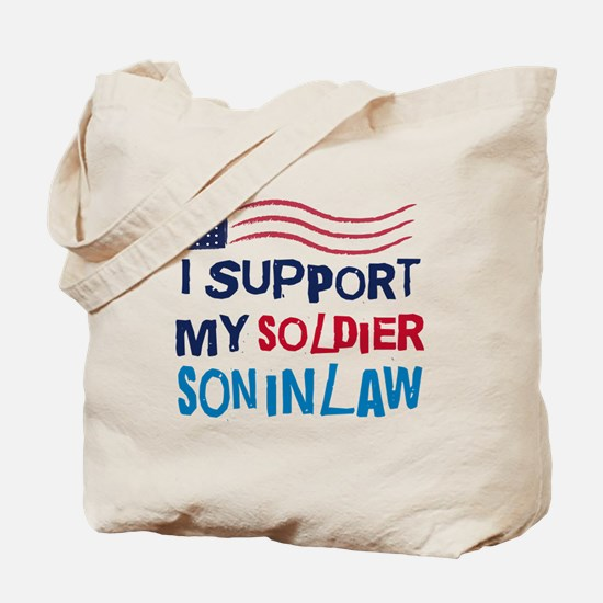 Soldier Son-in-Law Support Tote Bag