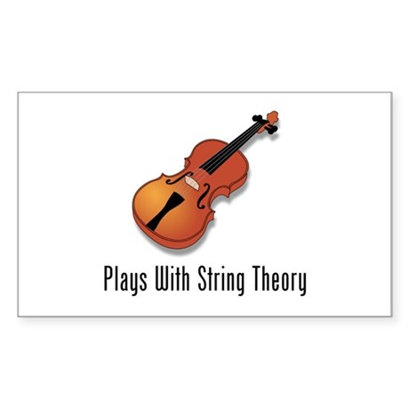 Plays With String Theory Sticker (Rectangle)