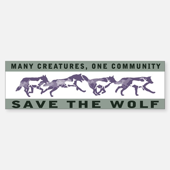 Wolf Conservation Bumper Car Car Sticker
