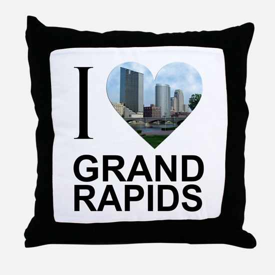 I Heart Grand Rapids Throw Pillow
