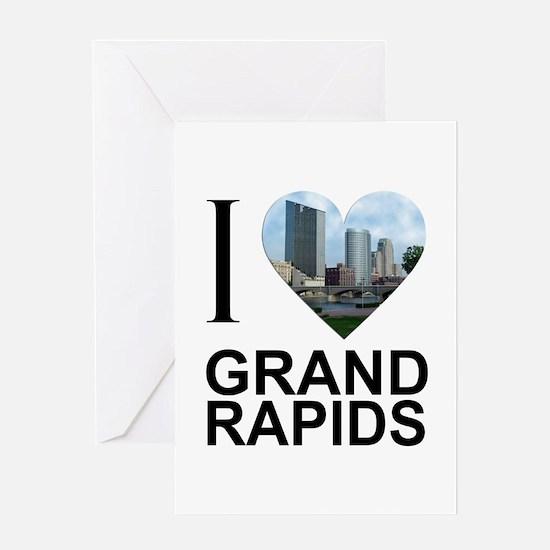 I Heart Grand Rapids Greeting Card