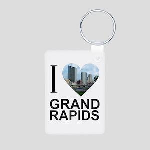 I Heart Grand Rapids Aluminum Photo Keychain