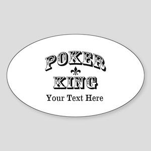 Customizable Poker King Sticker (Oval)
