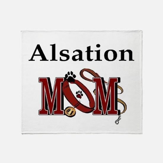 Alsation Mom Throw Blanket