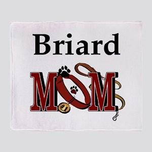 Briard Dog Mom Throw Blanket