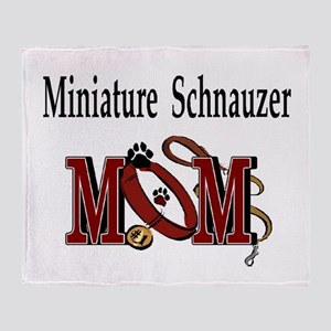 Miniature Schnauzer Gifts Throw Blanket