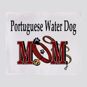 Portuguese Water Dog Mom Throw Blanket