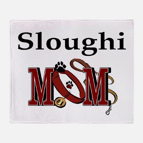 Sloughi Dog Mom Throw Blanket