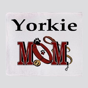 Yorkie Dog Mom Throw Blanket