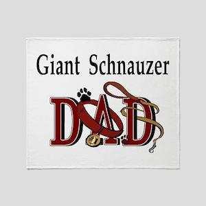 Giant Schnauzer Dad Throw Blanket
