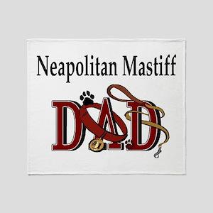 Neapolitan Mastiff Dad Throw Blanket