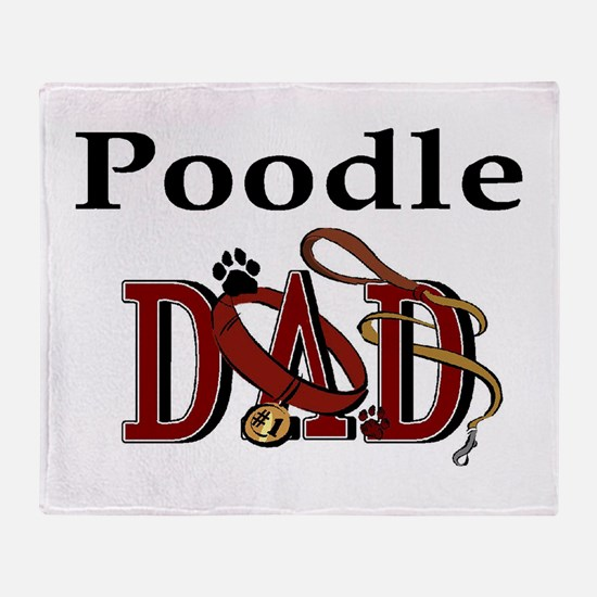 Poodle Dad Throw Blanket