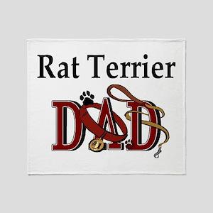 Rat Terrier Dad Throw Blanket