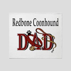 Redbone Coonhound Dad Throw Blanket