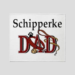 Schipperke Dad Throw Blanket