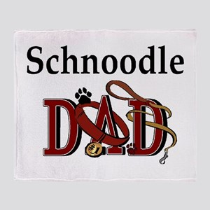 Schnoodle Dad Throw Blanket