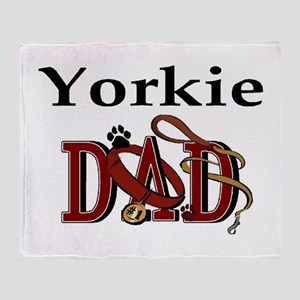 Yorkie Dad Throw Blanket