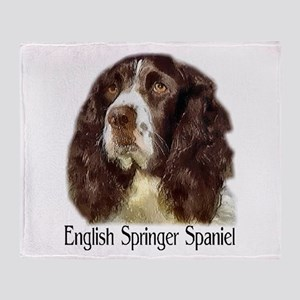 English Springer Spaniel Gift Throw Blanket