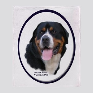Greater Swiss Mtn Dog Throw Blanket