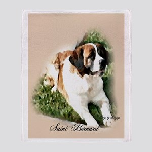 Saint Bernard Art Throw Blanket