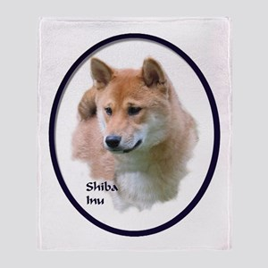Shiba Inu Art Throw Blanket