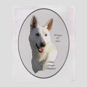 White German Shepherd Throw Blanket