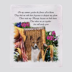 Basenji Art Throw Blanket