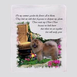 Chow Chow Art Throw Blanket