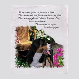 Greater Swiss Mountain Dog Throw Blanket