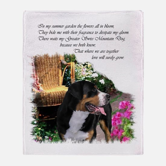 Greater Swiss Mountain Dog Throw Blanket
