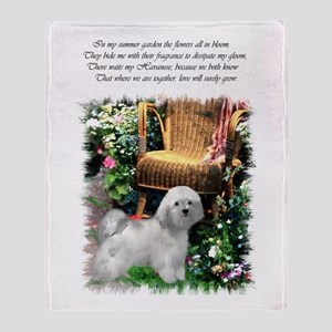 Havanese Art Throw Blanket