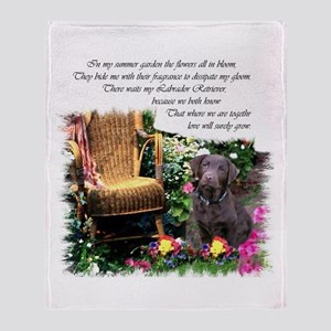Chocolate Lab Art Throw Blanket
