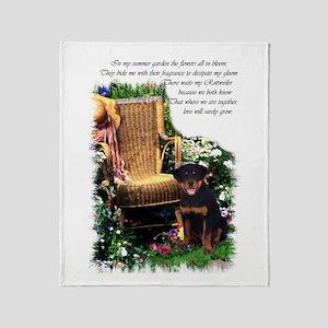 Rottweiler Art Throw Blanket