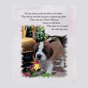Saint Bernard Puppy Throw Blanket