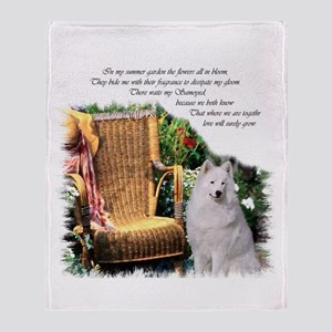Samoyed Art Throw Blanket