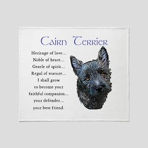 Cairn Terrier Throw Blanket