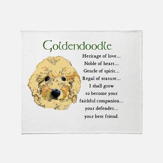 Goldendoodle Throw Blanket