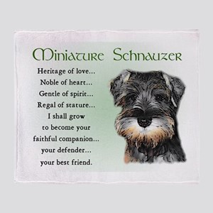 Miniature Schnauzer Throw Blanket