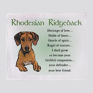 Rhodesian Ridgeback Throw Blanket