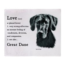 Black Great Dane Throw Blanket