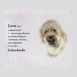 Labradoodle Love 1 Throw Blanket