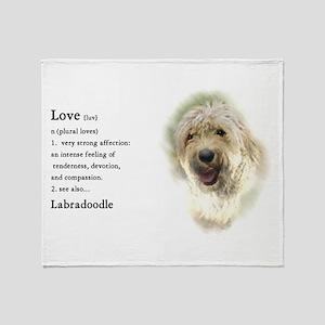 Labradoodle Love 1 Throw Blanket