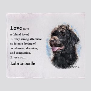 Labradoodle Gifts Throw Blanket