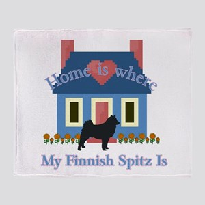 Finnish Spitz Home Is Throw Blanket