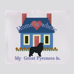 Home Is Great Pyrenees Throw Blanket