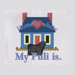 Puli Home Is Throw Blanket